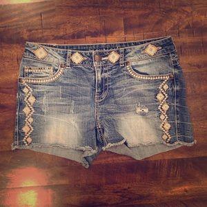 Maurices Frayed Denim Shorts size 5/6